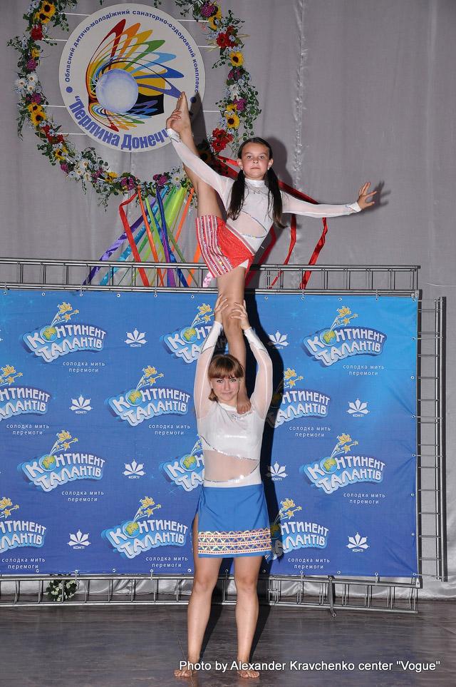 Дуэт студии циркового искусства «Старый цирк» (Харьков) демонстрирует силу и гибкость.