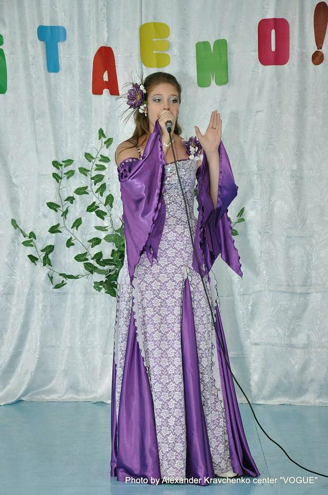 Выступление Ксении Яровой для учеников Славянской специальной школы-интерната для слепых и слабовидящих детей