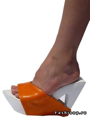 Оранжево-белые