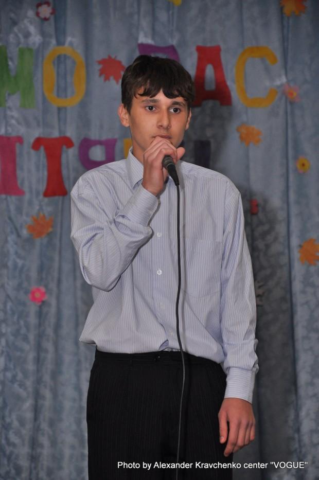 Николай Лесив, выпускник школы-интерната, конкурсант первого сезона «КОНТИНЕНТа талантов», призер фестиваля «Гордость Мариуполя».