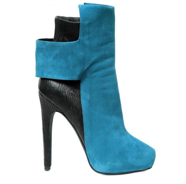 Черно-голубые ботиночки